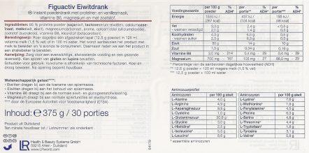 Ingrediënten FiguActiv Eiwitdrank