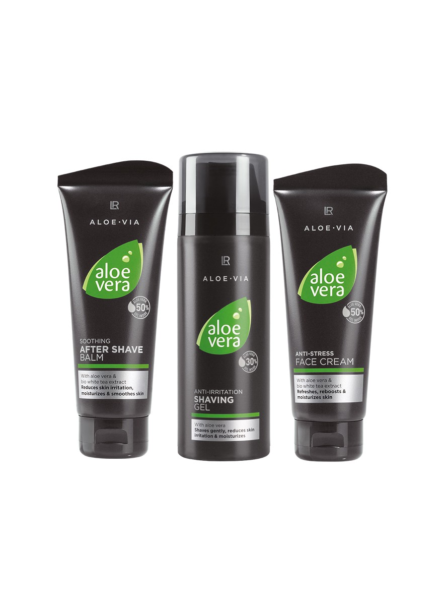 LR ALOE VIA Aloe Vera Men Care Set with Shaving Gel