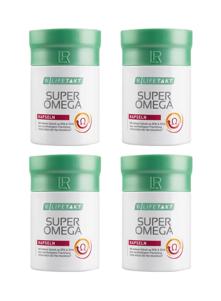 LR LIFETAKT Super Omega 3 Set Capsules - Set van 4