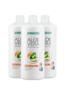 LR LIFETAKT Aloe Vera Drinking Gel Peach Flavour - Set van 3