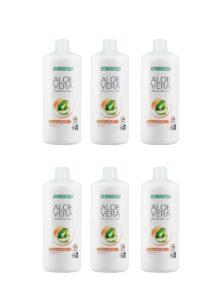 LR LIFETAKT Aloe Vera Drinking Gel Peach Flavour - Set van 6
