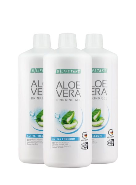 LR LIFETAKT Aloe Vera Drinking Gel Active Freedom - Set van 3