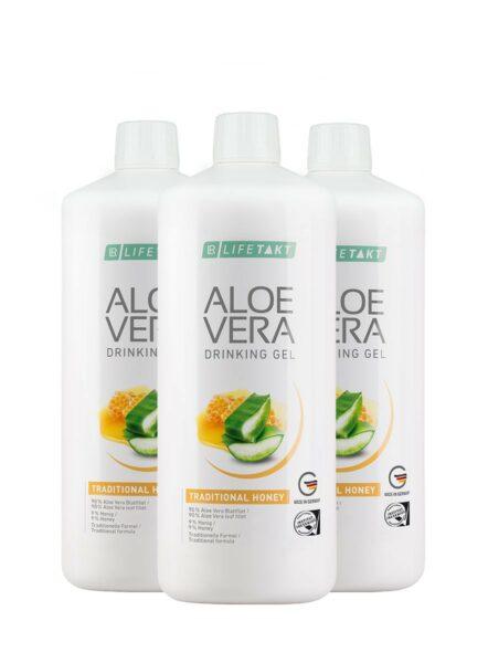 LR LIFETAKT Aloe Vera Drinking Gel Traditional Honey - Set van 3