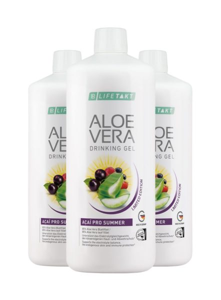LR LIFETAKT Aloe Vera Drinking Gel Açaí Pro Summer - Limited Edition - Set van 3