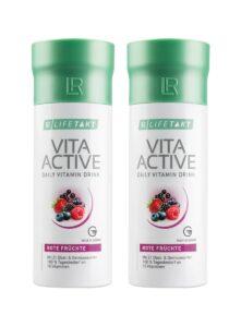 LR LIFETAKT Vita Active Daily Vitamin Drink Red Fruit - Set van 2
